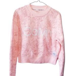 Calvin Klein Performance Crop Sweatshirt Size M EUC